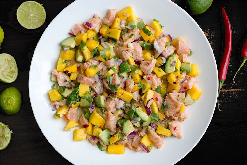 ceviche med laks