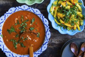tomat og paprika suppe med byggryn