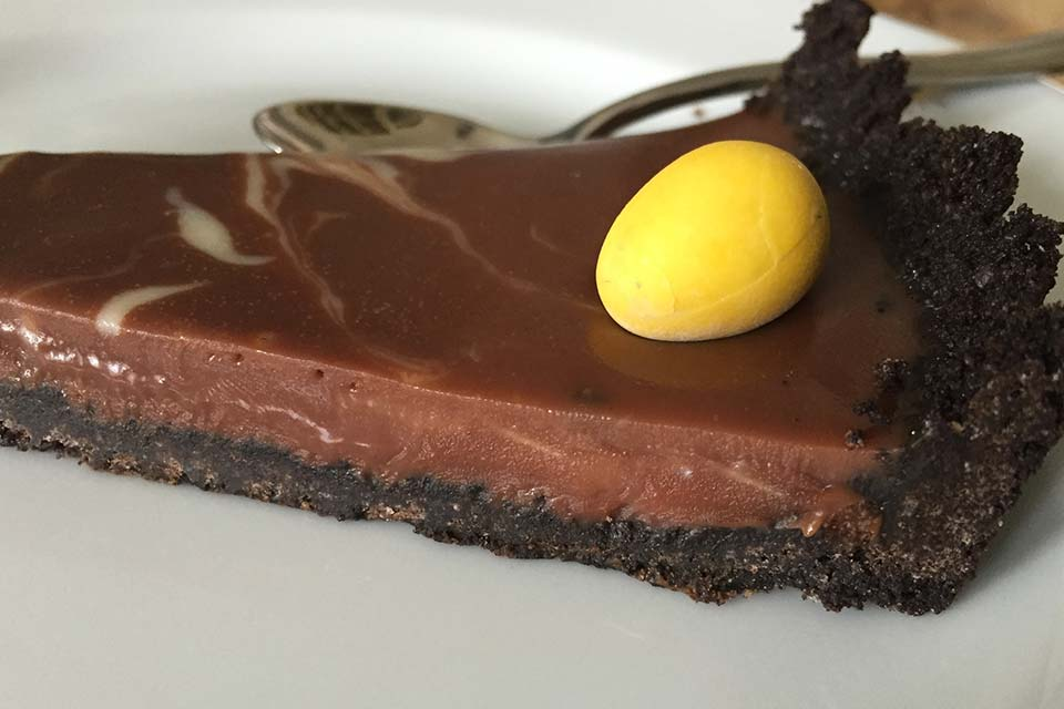Sjokoladeganache-terte med oreo