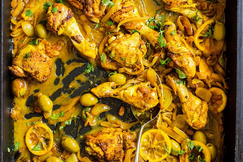 Kylling Sitron Og L 248 K Tagine Aichas Mat