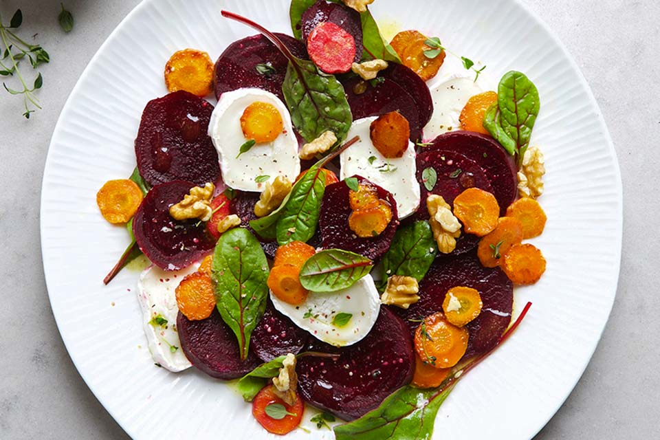 Salat chevre oppskrift